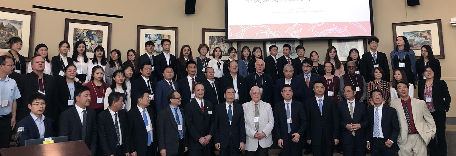 Group photo of attendees of the Chu Cultural Symposium